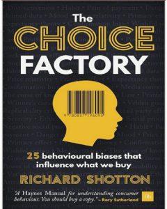 در حال ترجمه کتاب کارخانه انتخاب (The choice factory) – در نوبت چاپ